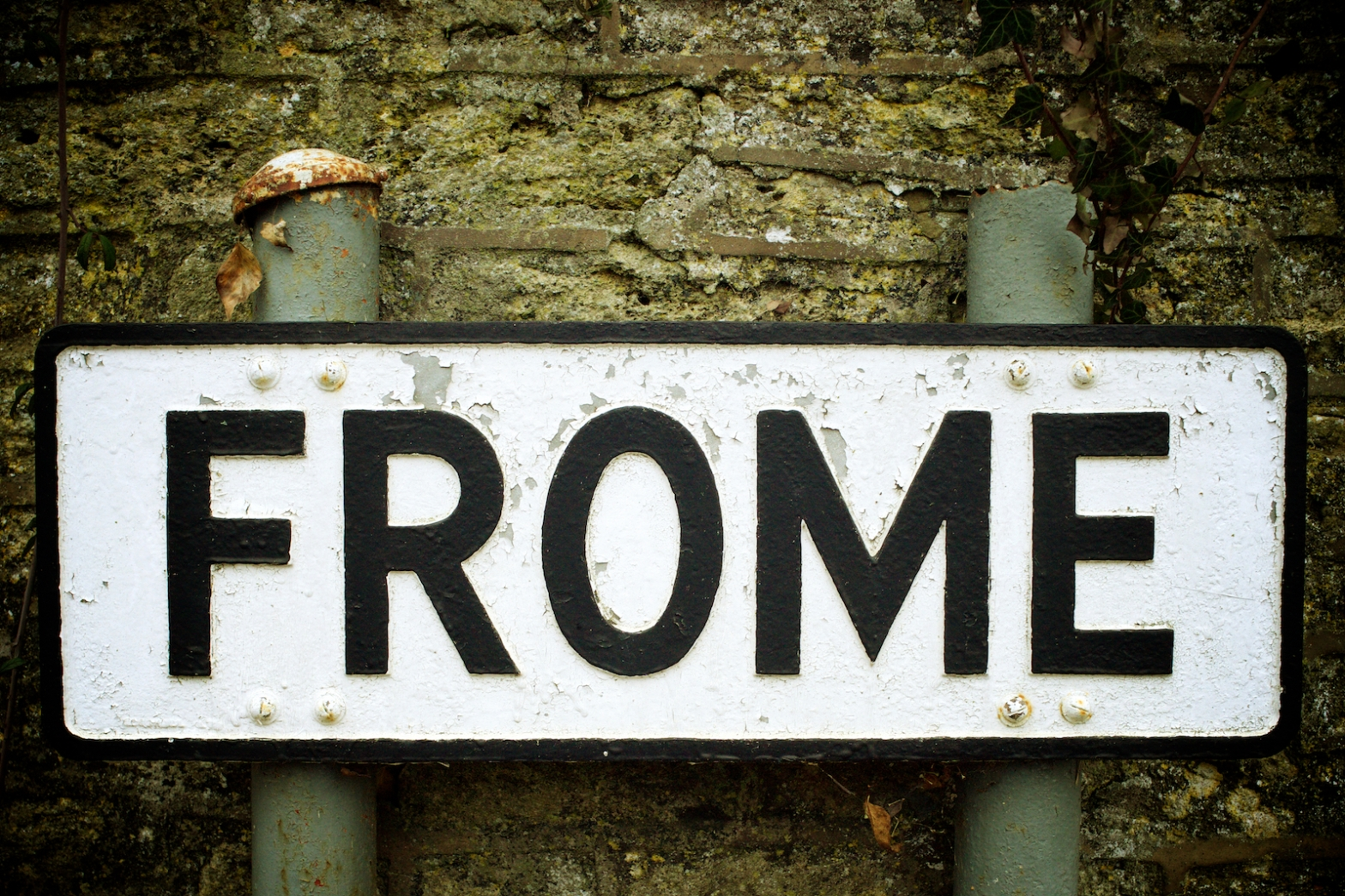Frome Somerset Street Sign