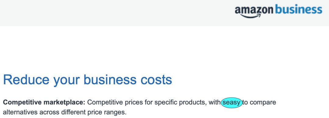 Amazon Business Fromester Spelling Mistakes