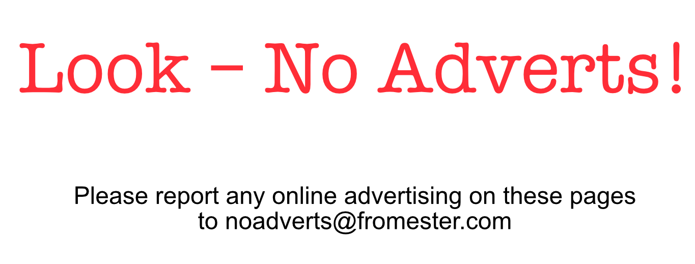 No Adverts Fromester