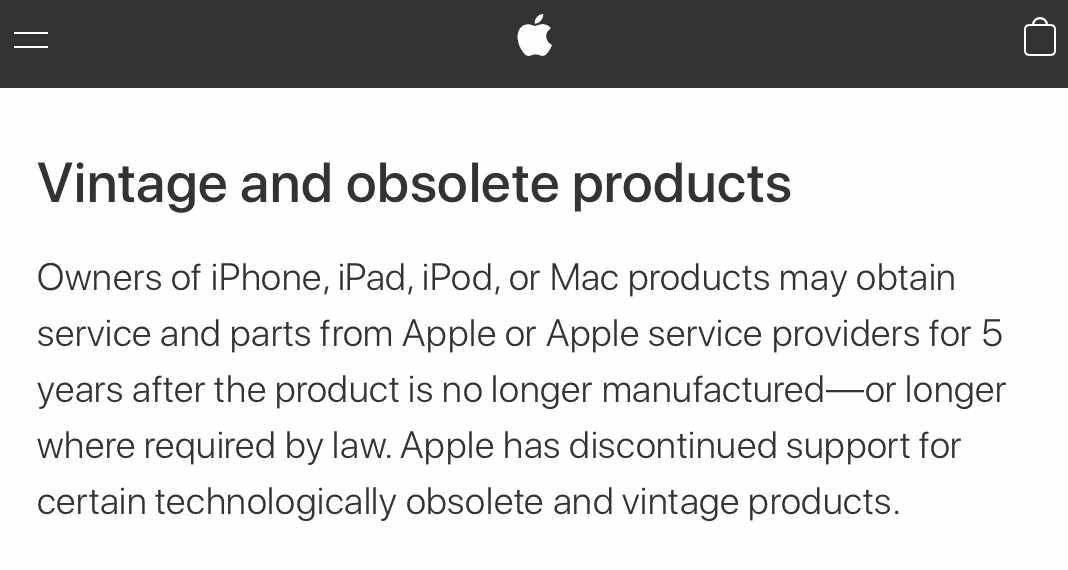Apple Vintage Second Hand